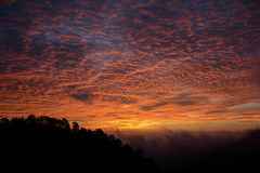 Wschód słońca przy Ang Khand Zdjęcie Royalty Free