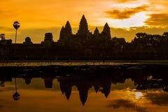 Wschód słońca Przy Angkor Wat Zdjęcie Royalty Free