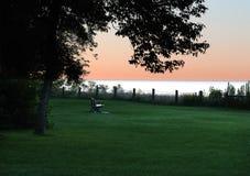 Wschód słońca przy blefami Obrazy Royalty Free