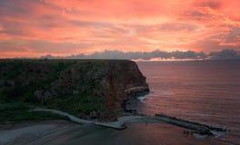 Wschód słońca przy Bolata zatoką Zdjęcia Royalty Free