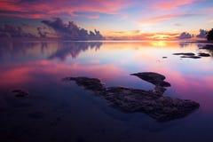 Wschód słońca przy Borneo, Sabah, Malezja Fotografia Stock