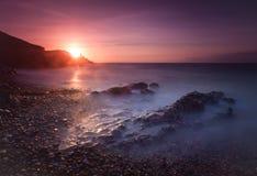 Wschód słońca przy bransoletki zatoką Obrazy Royalty Free