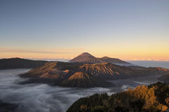 Wschód słońca przy Bromo górą, Indonezja zdjęcie royalty free