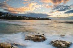 Wschód słońca przy Bronte plażą Fotografia Royalty Free