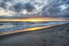 Wschód słońca przy Canaveral obywatelem Seshore obraz stock