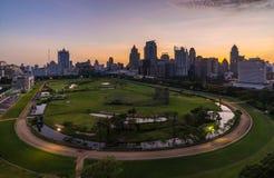 Wschód słońca przy centrum Bangkok Zdjęcia Stock