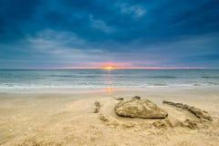 Wschód słońca przy Czarnym morzem obraz stock