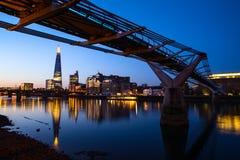 Wschód słońca przy czerepem, Londyn Obraz Royalty Free