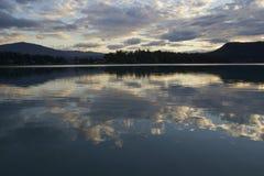 Wschód słońca przy faaker widzii Obrazy Royalty Free