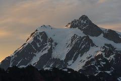 Wschód słońca przy górą Shuksan Obraz Stock