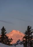 Wschód słońca przy góra piekarzem Fotografia Royalty Free