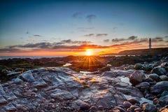 Wschód słońca przy Greyhope zatoką Zdjęcie Royalty Free