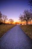 Wschód słońca przy Humber zatoki parkiem obrazy royalty free