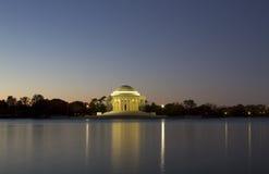 Wschód słońca przy Jefferson Pomnikiem Obrazy Stock