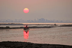 Wschód słońca przy Jeziorem zdjęcia royalty free