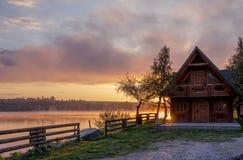 Wschód słońca przy Jeziorem Zdjęcie Stock