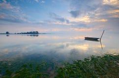 Wschód słońca przy jubakar plażą, tumpat Kelantan, Malaysia obrazy royalty free
