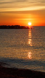 Wschód słońca przy Kenosha Fotografia Royalty Free