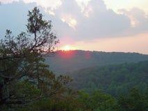 Wschód słońca przy Kminkową górą NC Obrazy Stock