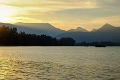 Wschód słońca przy Koh Chang Fotografia Royalty Free