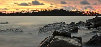 Wschód słońca przy Kohkood Tajlandia Zdjęcia Royalty Free