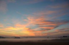 Wschód słońca przy koszem Lenieje rezerwat dzikiej przyrody, Oregon obrazy royalty free