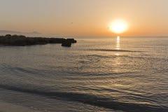Wschód słońca przy kwatery głównej Santa plażowym pole Fotografia Royalty Free