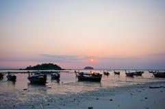 Wschód słońca przy Lipe plażą Zdjęcia Stock