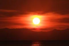 Wschód słońca przy Lipe wyspą Obraz Royalty Free