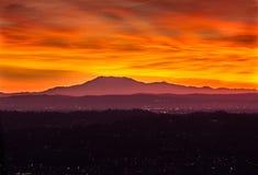 Wschód słońca przy Los Angeles basenem, przyglądający wschód Fotografia Stock