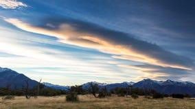 Wschód słońca przy Los Glaciares parkiem narodowym Zdjęcia Stock