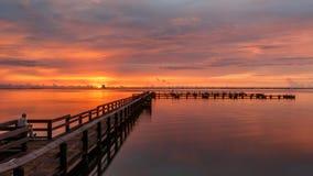 Wschód słońca przy Merritt wyspą, Floryda Obrazy Royalty Free