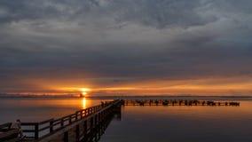 Wschód słońca przy Merritt wyspą, Floryda Zdjęcia Stock