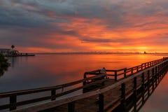 Wschód słońca przy Merritt wyspą, Floryda Obraz Royalty Free