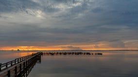 Wschód słońca przy Merritt wyspą, Floryda Zdjęcie Stock