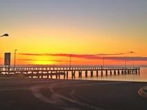 Wschód słońca przy Molem Obraz Royalty Free