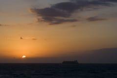 Wschód słońca przy morzem Fotografia Stock