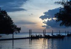 Wschód słońca przy morzem Obraz Royalty Free