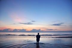 Wschód słońca przy morzem Obrazy Royalty Free