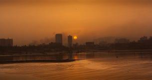 Wschód słońca przy Mumbai, India obrazy stock