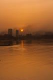 Wschód słońca przy Mumbai, India fotografia stock