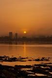 Wschód słońca przy Mumbai, India obrazy royalty free