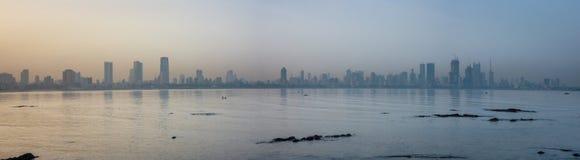 Wschód słońca przy Mumbai, India obraz royalty free