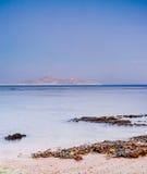 Wschód słońca przy Naama zatoką, Czerwony morze, sharm el sheikh Zdjęcia Stock