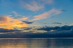 Wschód słońca przy nadmorski obrazy royalty free