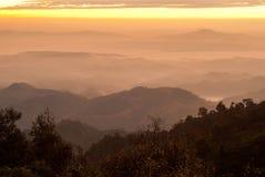 Wschód słońca przy Nan prowincją Fotografia Royalty Free