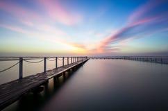 Wschód słońca przy Północnym Narrabeen basenem Zdjęcie Stock