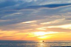Wschód słońca przy Pagudpud Zdjęcia Royalty Free