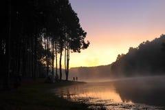 Wschód słońca przy Pangoung, Tajlandia Obraz Stock