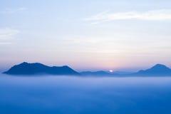 Wschód słońca przy phu tog Zdjęcie Royalty Free